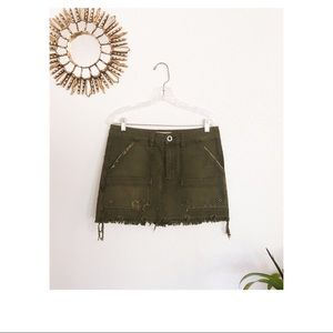 Free People Olive Skirt